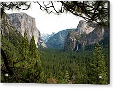 Tunnel View Framed Acrylic Print