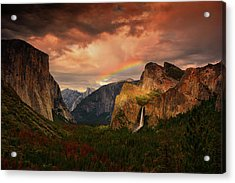 Tunnel View Rainbow Acrylic Print