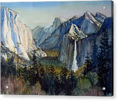 Tunnel View Yosemite Valley Acrylic Print by Howard Luke Lucas