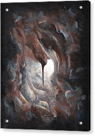 Acrylic Print featuring the painting Tunnel Vision 02 - Keyhole by Joe Burgess