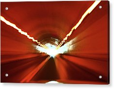 Acrylic Print featuring the photograph Tunnel Vision by Gray  Artus