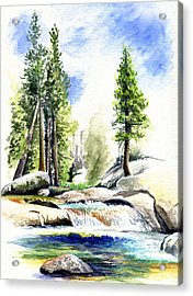 Tuolumne River On An August Afternoon Acrylic Print by Logan Parsons