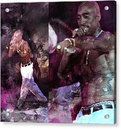 Tupac 41420632232 Acrylic Print by Jani Heinonen