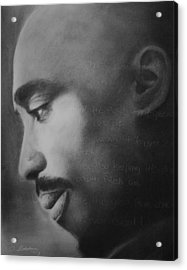 Tupac Rose Acrylic Print by Adrian Pickett