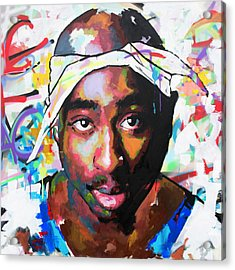 Acrylic Print featuring the painting Tupac Shakur II by Richard Day