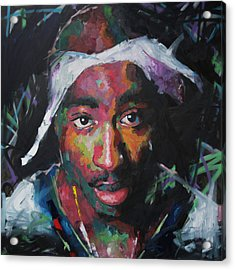 Acrylic Print featuring the painting Tupac Shakur by Richard Day