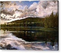 Tupper Lake Evening Mood Acrylic Print by David Llanos