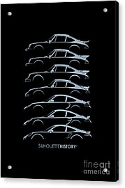 Turbo Sports Car Silhouettehistory Acrylic Print