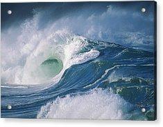 Turbulent Shorebreak Acrylic Print by Vince Cavataio - Printscapes