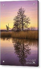 Turf Fen Mill At Sunrise Acrylic Print