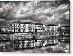 Turin Shrouded In Cloud Acrylic Print
