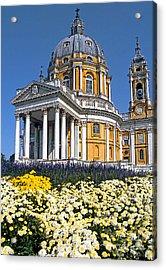 Turin - Superga Church Acrylic Print by Linda  Parker