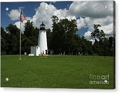 Acrylic Print featuring the photograph Turkey Point Lighthouse by Donald C Morgan