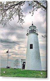 Turkey Point Lighthouse Acrylic Print by Mark Fuller