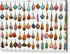 Turkish Earrings Acrylic Print by Tom Gowanlock