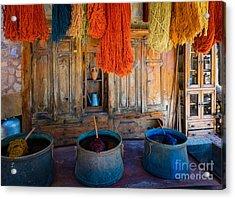 Turkish  Rug Maker Acrylic Print by Inge Johnsson