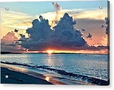 Turks And Caicos Grace Bay Beach Sunset Acrylic Print