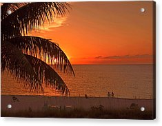 Turks And Caicos Sunset Acrylic Print by Stephen Anderson