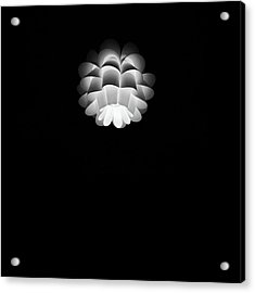 Turn On Ceiling Light Black And White Color Acrylic Print by Sirikorn Techatraibhop