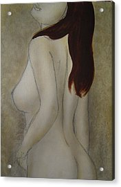 Turn To Me Acrylic Print by Bridgette  Allan