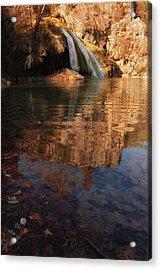 Turner Falls Autumn Reflections Acrylic Print by Iris Greenwell