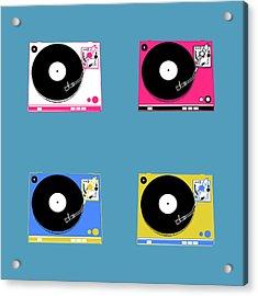 Turntable Pop Art 2 Acrylic Print