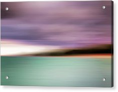 Acrylic Print featuring the photograph Turquoise Waters Blurred Abstract by Adam Romanowicz