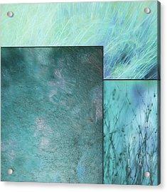 Turquoise Textures 2 Acrylic Print by Lori Deiter