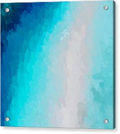 Turquoise And Blue Acrylic Print