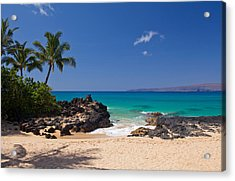 Turquoise At Secret Beach Makena Acrylic Print