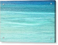 Turquoise Blue Carribean Water Acrylic Print by James Forte