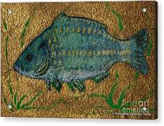 Turquoise Carp Acrylic Print
