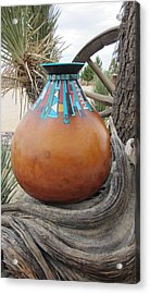Turquoise Design Acrylic Print
