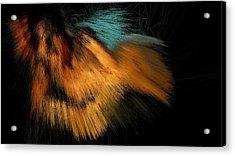 Turquoise Dunes Acrylic Print