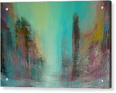 Turquoise Evening Acrylic Print by Denise Cloutier