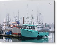 Turquoise Fishing Boat Acrylic Print by Jerry Fornarotto