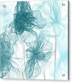 Turquoise In Sync Acrylic Print by Lourry Legarde