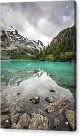 Acrylic Print featuring the photograph Turquoise Lake In The Mountains by Pierre Leclerc Photography