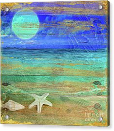 Turquoise Moon Acrylic Print by Mindy Sommers