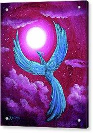 Turquoise Moon Phoenix Acrylic Print