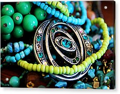 Turquoise Playthings Acrylic Print by Susan Vineyard