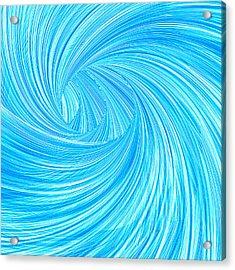 Turquoise Rays Acrylic Print by Lourry Legarde