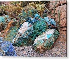 Turquoise Rocks Acrylic Print