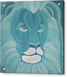 Turquoise Lion Acrylic Print