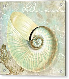 Turquoise Sea Nautilus Acrylic Print by Mindy Sommers