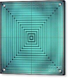 Turquoise Square Acrylic Print