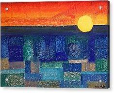 Turquoise Sunset Acrylic Print