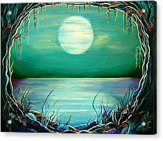 Acrylic Print featuring the painting Turquoise Taunt by Doe-Lyn Designs
