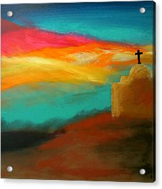 Turquoise Trail Sunset Acrylic Print