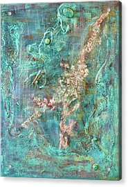 Turquoise Universe Acrylic Print by Lynn Watters